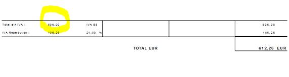 factura electronica importesiniva