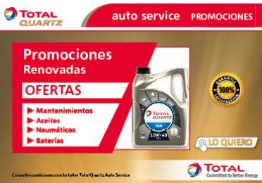 promociones renovadas ofertas mantenimientos, aceites, neumáticos, baterías